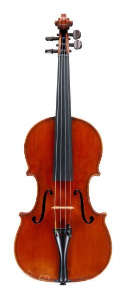 front of a violin by Annibale Fagnola, Turin, 1922