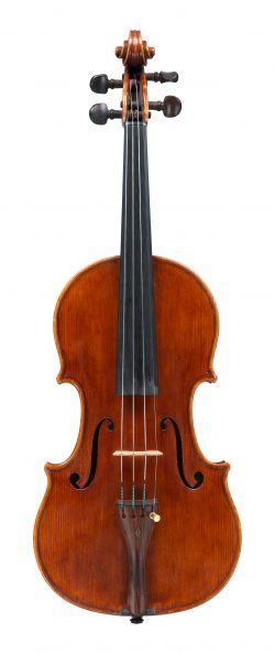 front of a violin by Carlo Bisiach, Florence, 1913