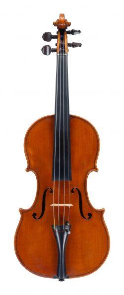 front of a violin by Carlo Giuseppe Oddone, Rivadora, 1909