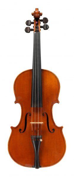 front of a violin by Carlo Giuseppe, Oddone, Rivadora, 1912