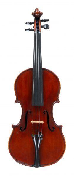 front of a violin by Carlo Giuseppe Oddone, Rivadora, 1913