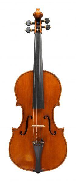 front of a violin by Carlo Giuseppe Oddone, Rivadora, 1934