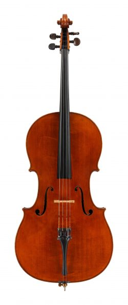 front of a cello by Charles Boullangier, London, 1888