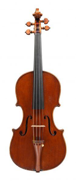 front of a violin by Eugenio Degani, Venice, 1899