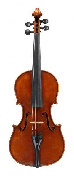 front of a violin by Gaetano Pollastri, Bologna, 1948