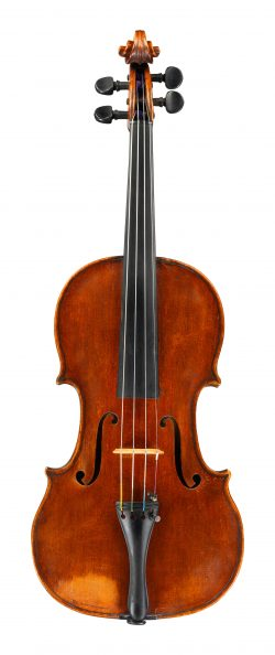 front of a violin by Giovanni Pistucci, Naples, c1900
