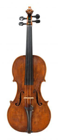 front of a violin by Giuseppe Dall'Aglio, Mantua, c1830