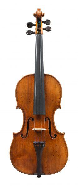 front of a violin by Giuseppe Guarneri del Gesu, Cremona, 1732, LeBrun-Bouthillard