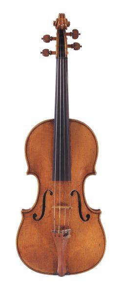 front of a violin by Giuseppe filius Guarneri, Cremona, 1714