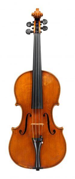 Front of a violin by Marino Capicchioni, Rimini, 1965