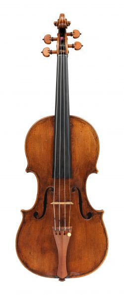 Front of a violin by Matteo Goffriller, Venice, 1692