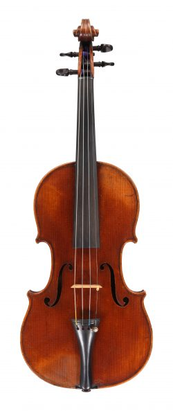 Front of a violin by Pierre Silvestre, Lyon, 1856