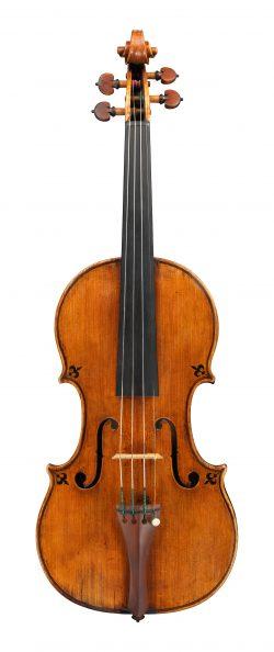 Front of a violin by Pietro Guarneri of Mantua, 1685