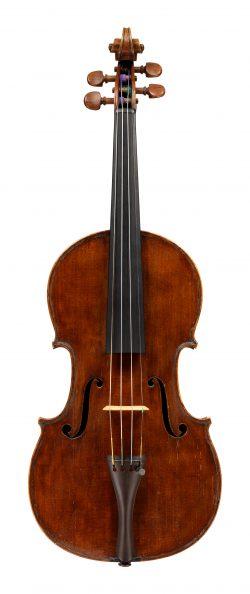 Front of a violin by Raffaele Trapani, Naples, 1815