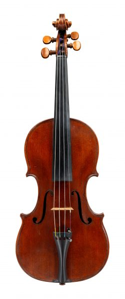 Front of a violin by Romeo Antoniazzi, Milan, 1911