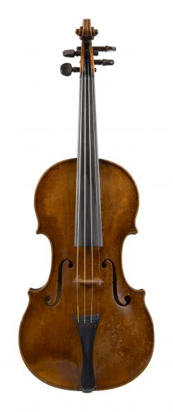 Front of a violin by Aegidius Kloz, Mittenwald, 1791