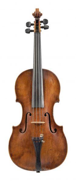 Front of a violin by Aegidius Kloz, Mittenwald, c1780