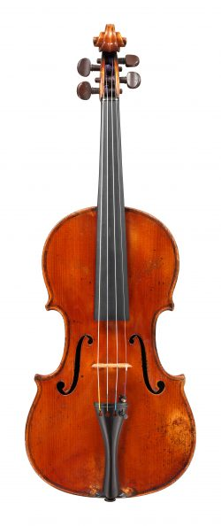 front of a violin by Annibale Fagnola, Turin, 1947