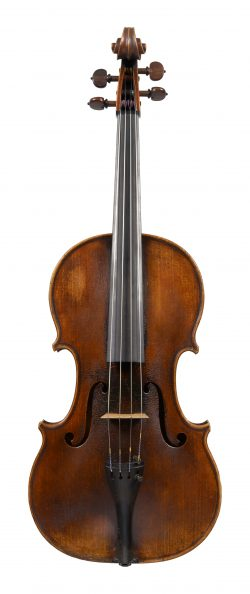 Front of a viola by Bernard Simon Fendt, London, dated circa 1840