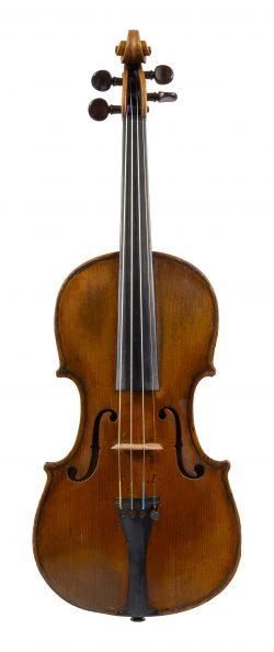Front of violin by Edward Pamphilon, London, c1680