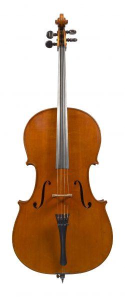 Front of a cello by Evasio Emilio Guerra, Turin, 1921