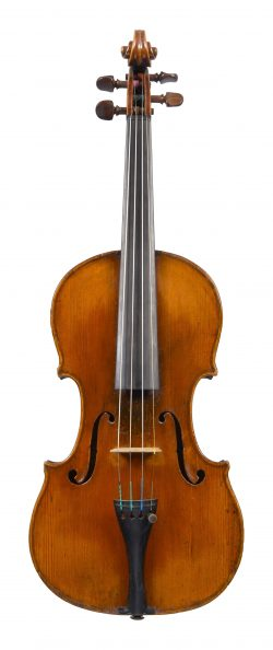 Front of a violin by Francis Fendt, mid 19th century