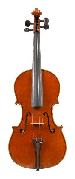 Front of a violin by Giorgio Gatti, Turin, dated 1925