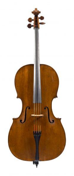 Front of a cello by Giovanni Battista Gabrielli, Florence, dated circa 1755