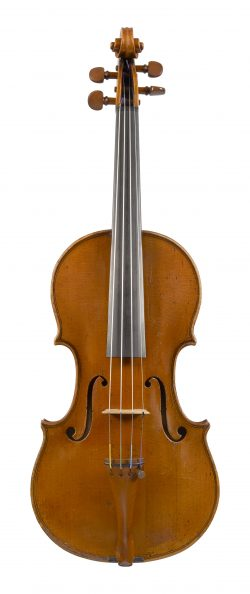 Front of a violin by Giovanni Battista Gabrielli, Florence, c1770