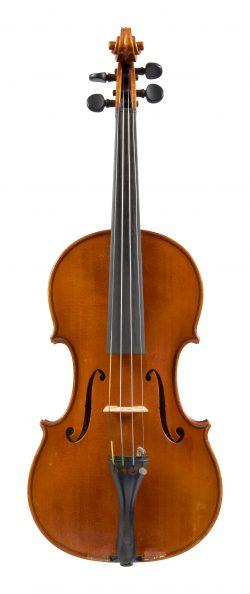Front of a violin by Giovanni Battista Gaibisso, Alassio, 1941