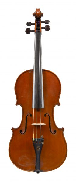 Front of a violin by Gustave Adolphe Bernardel, Paris, dated 1901