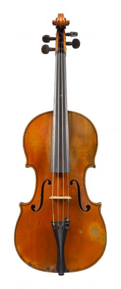 Front of a violin by Hilaire Darche, Brussels, dated circa 1890