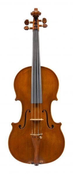 Front of a violin by Igino Sderci, Florence, dated 1949
