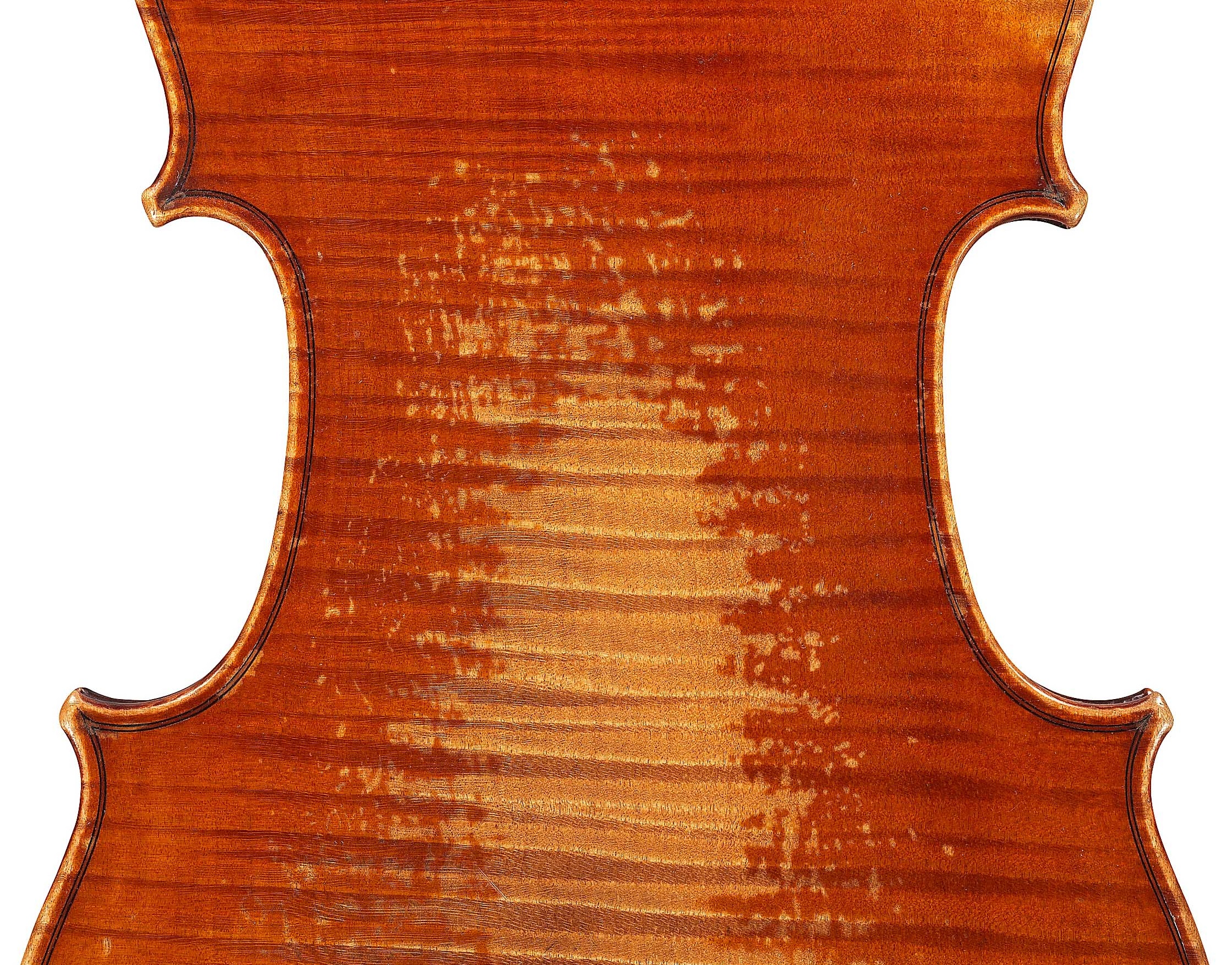 Detail of the ex-Karrman viola by JB Vuillaume, dated 1859 at Ingles and Hayday