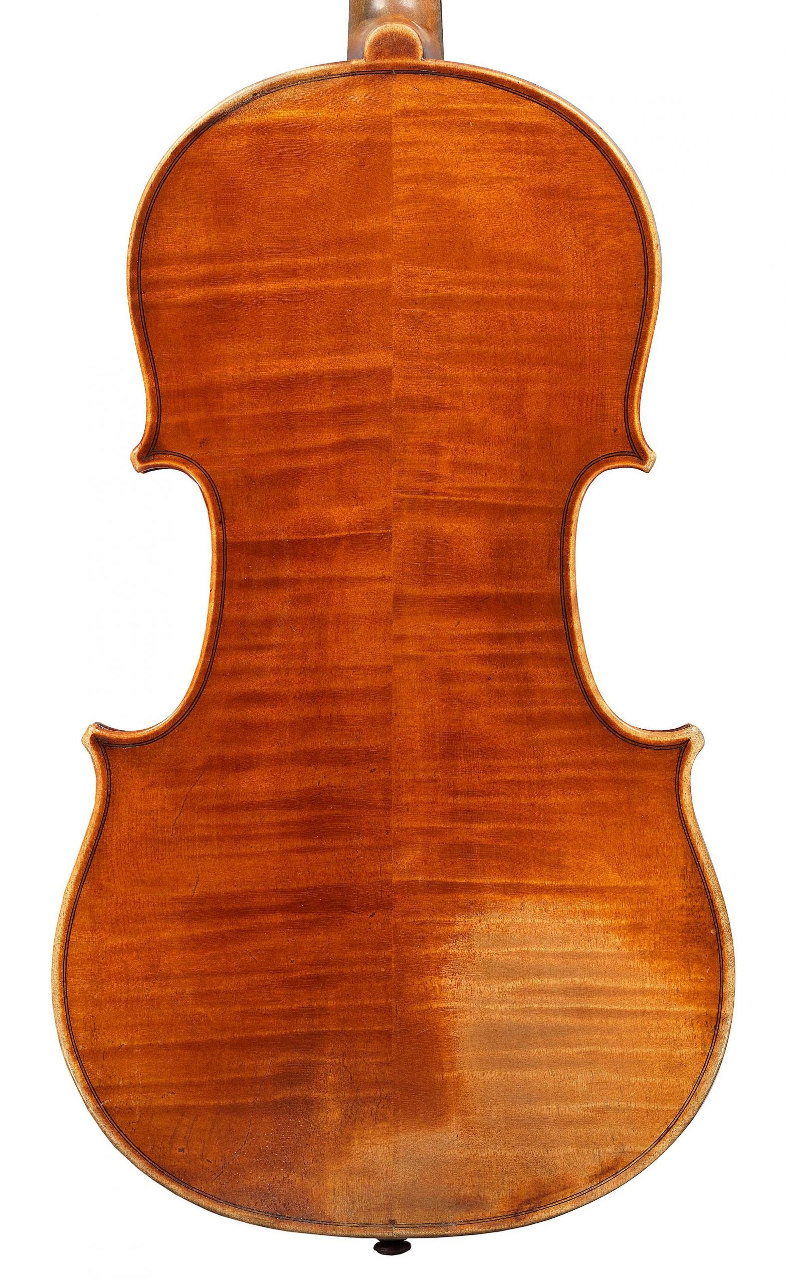 Back of viola by JB Vuillaume, dated 1863, exhibited by Ingles & Hayday at Sotheby's in 2012
