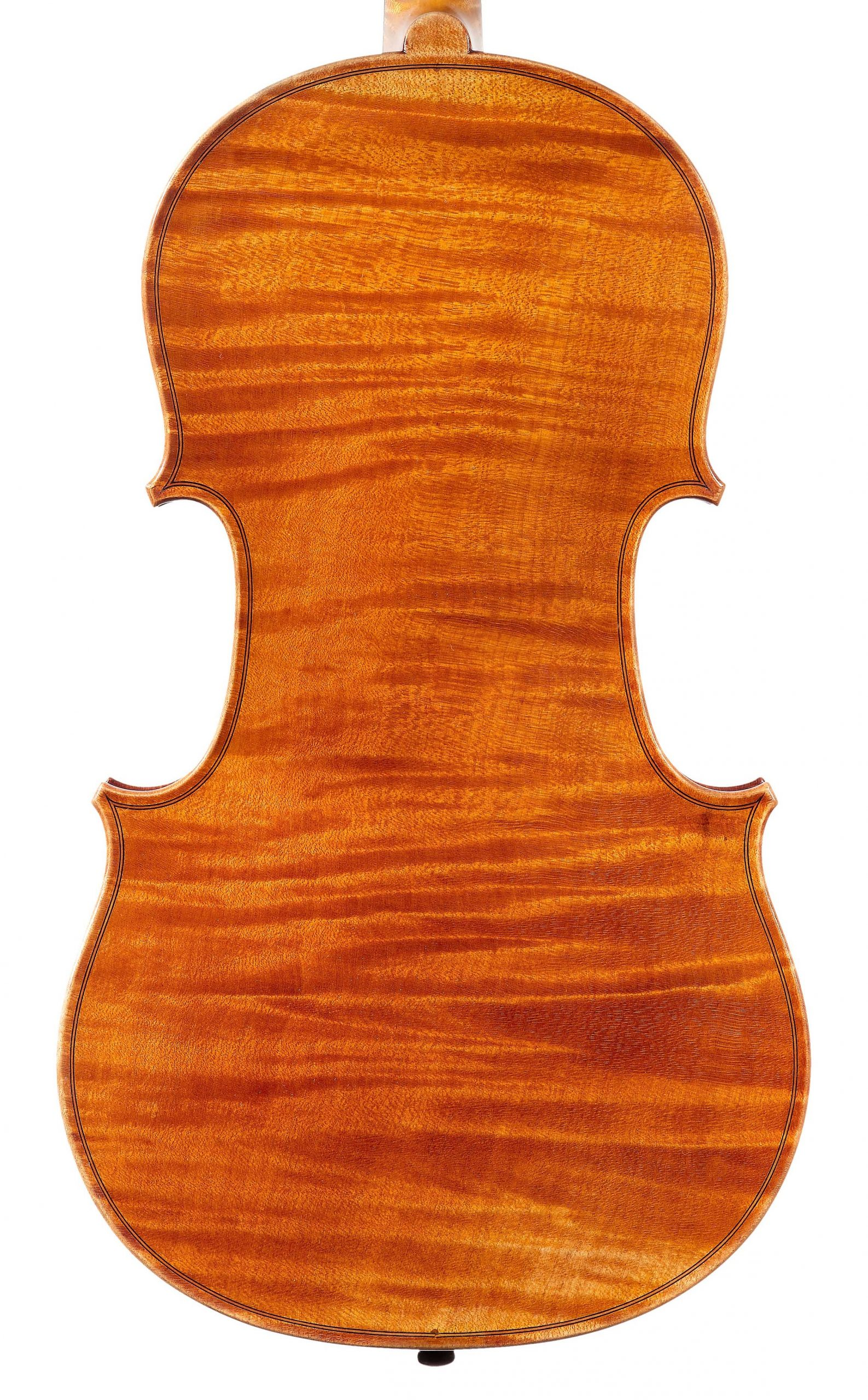 Back of St. Mathieu viola from the Evangelists quartet by JB Vuillaume, dated 1863