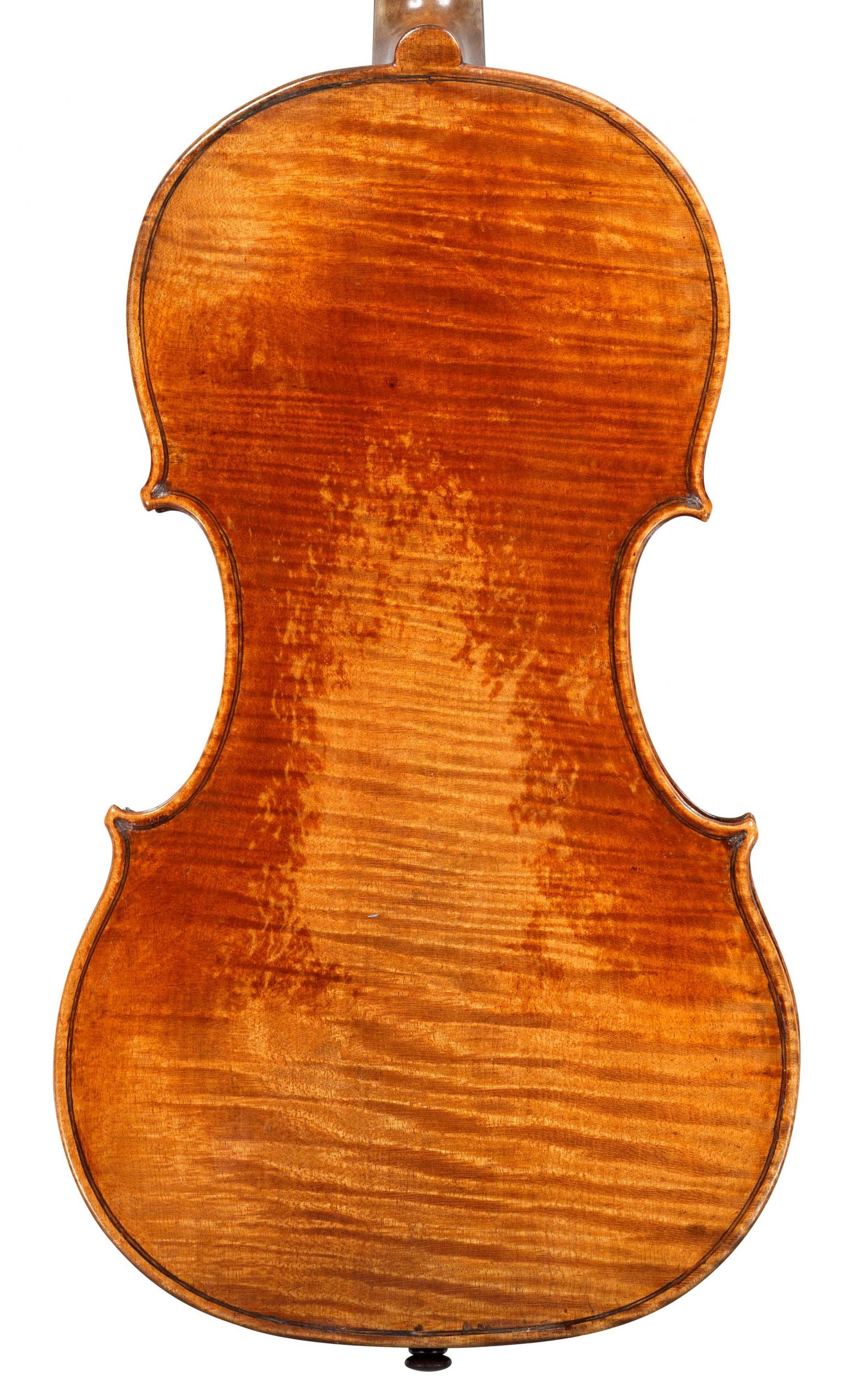 Back of violin by JB Vuillaume, dated 1854, exhibited by Ingles & Hayday at Sotheby's in 2012