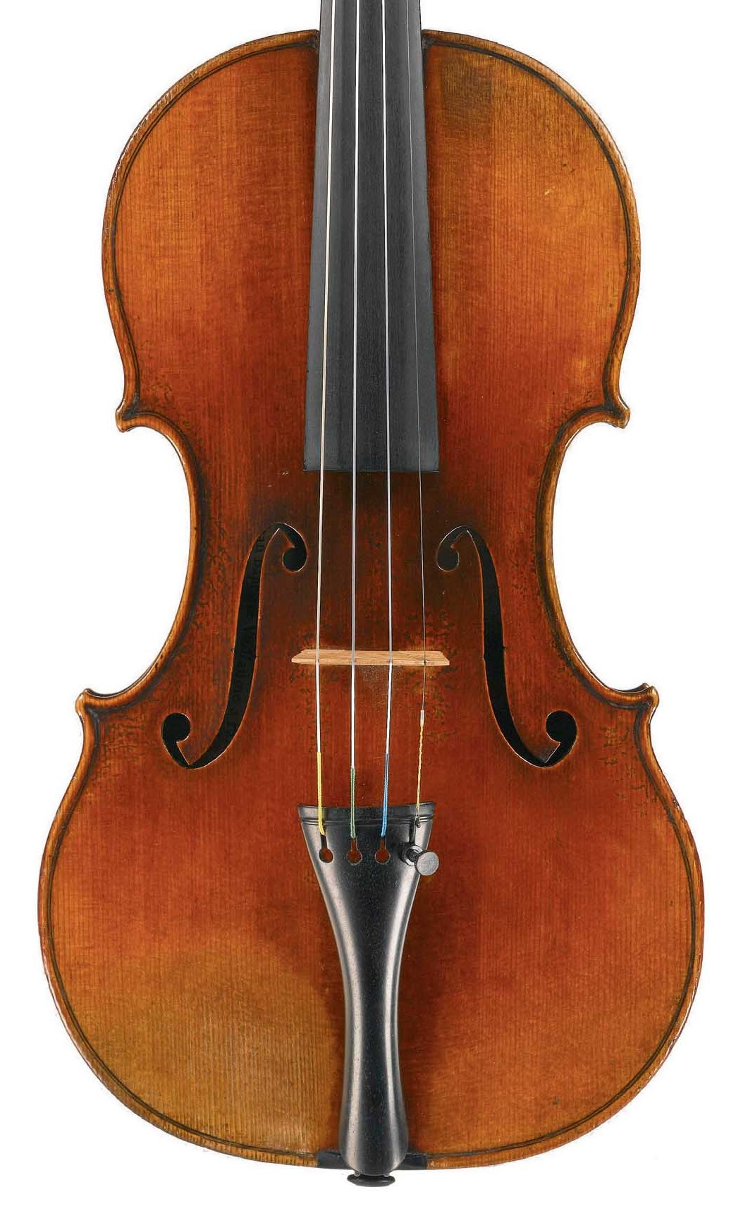 Front of violin by JB Vuillaume, dated 1854, exhibited by Ingles & Hayday at Sotheby's in 2012