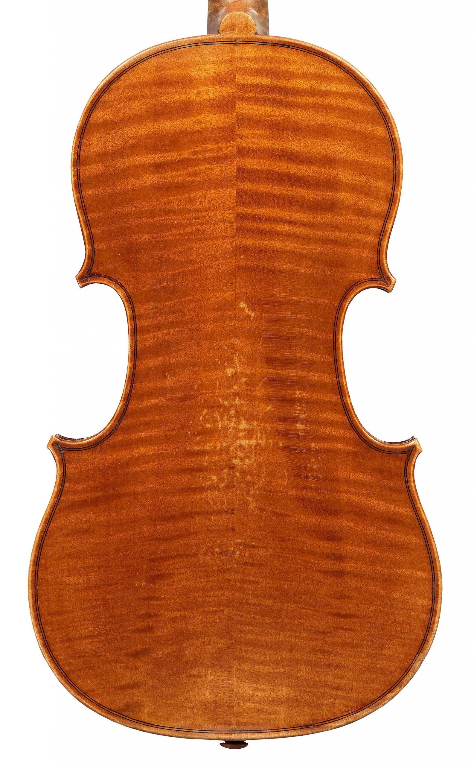Back of a JB Vuillaume violin, dated 1856, exhibited by Ingles & Hayday at Sotheby's in 2012