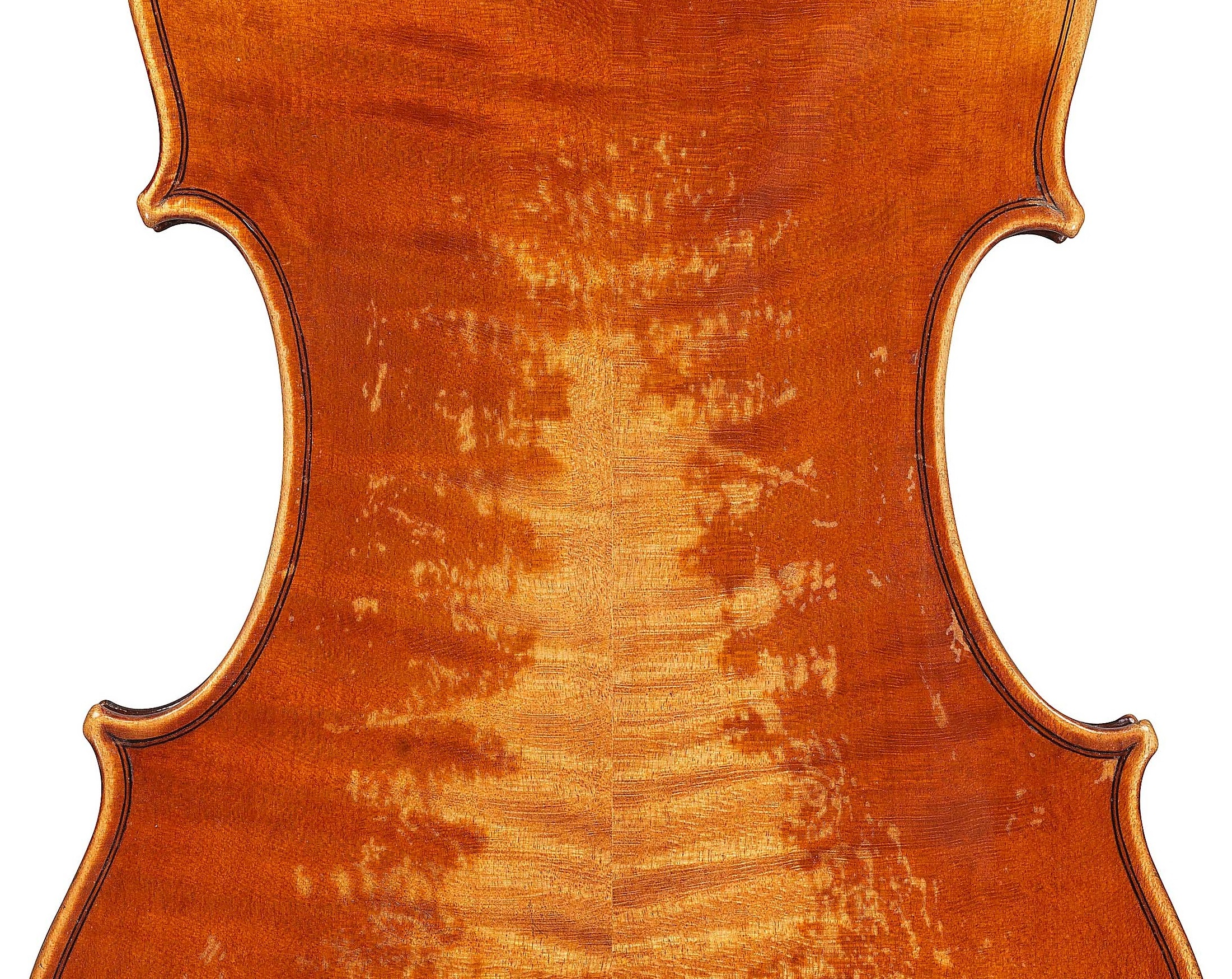 Detail of the ex-Karrman violin by JB Vuillaume, dated 1859 at Ingles & Hayday