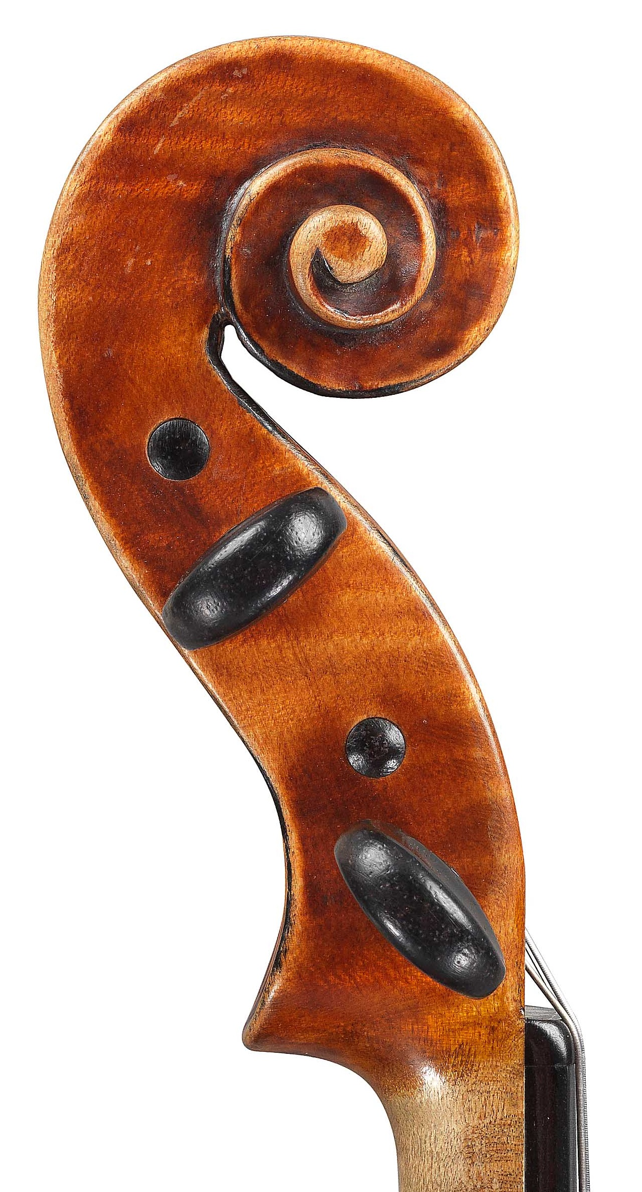 Scroll of Violin by JB Vuillaume, dated 1859, ex-Karrman, exhibited by Ingles & Hayday at Sotheby's in 2012