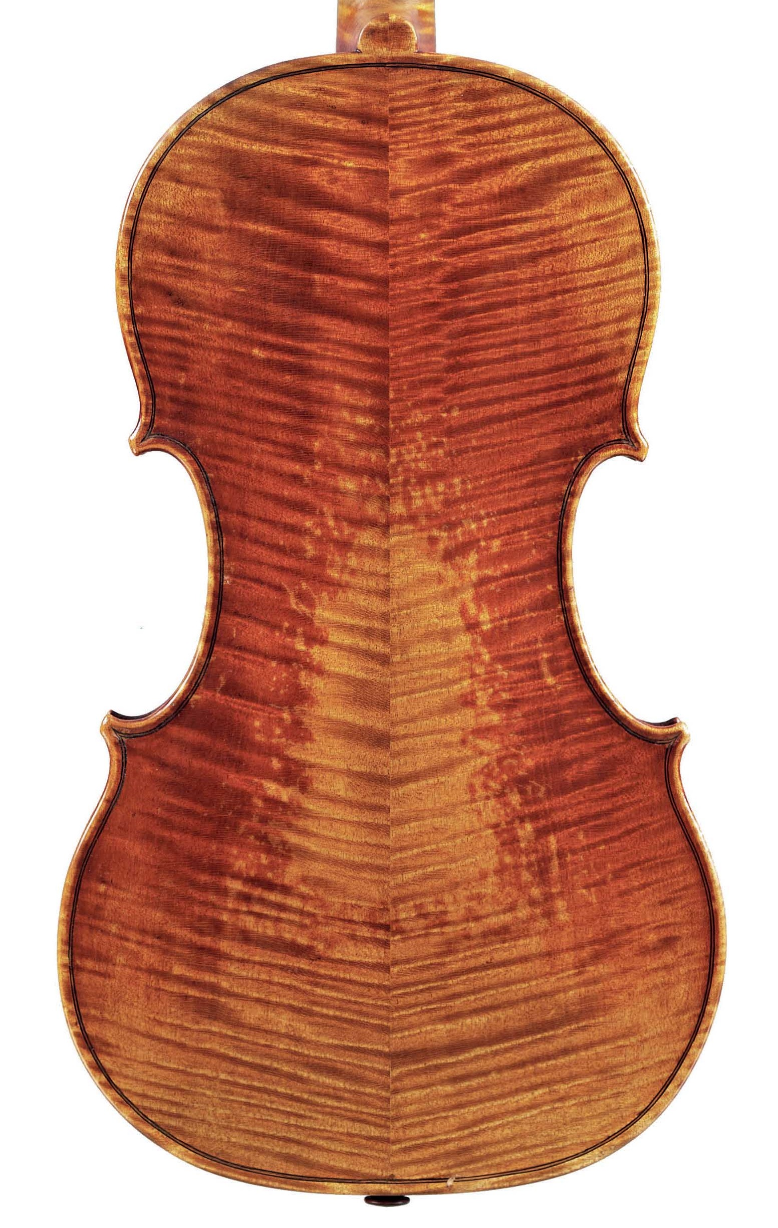Back of violin by JB Vuillaume, ex-Sin, dated 1862, exhibited by Ingles & Hayday at Sotheby's in 2012
