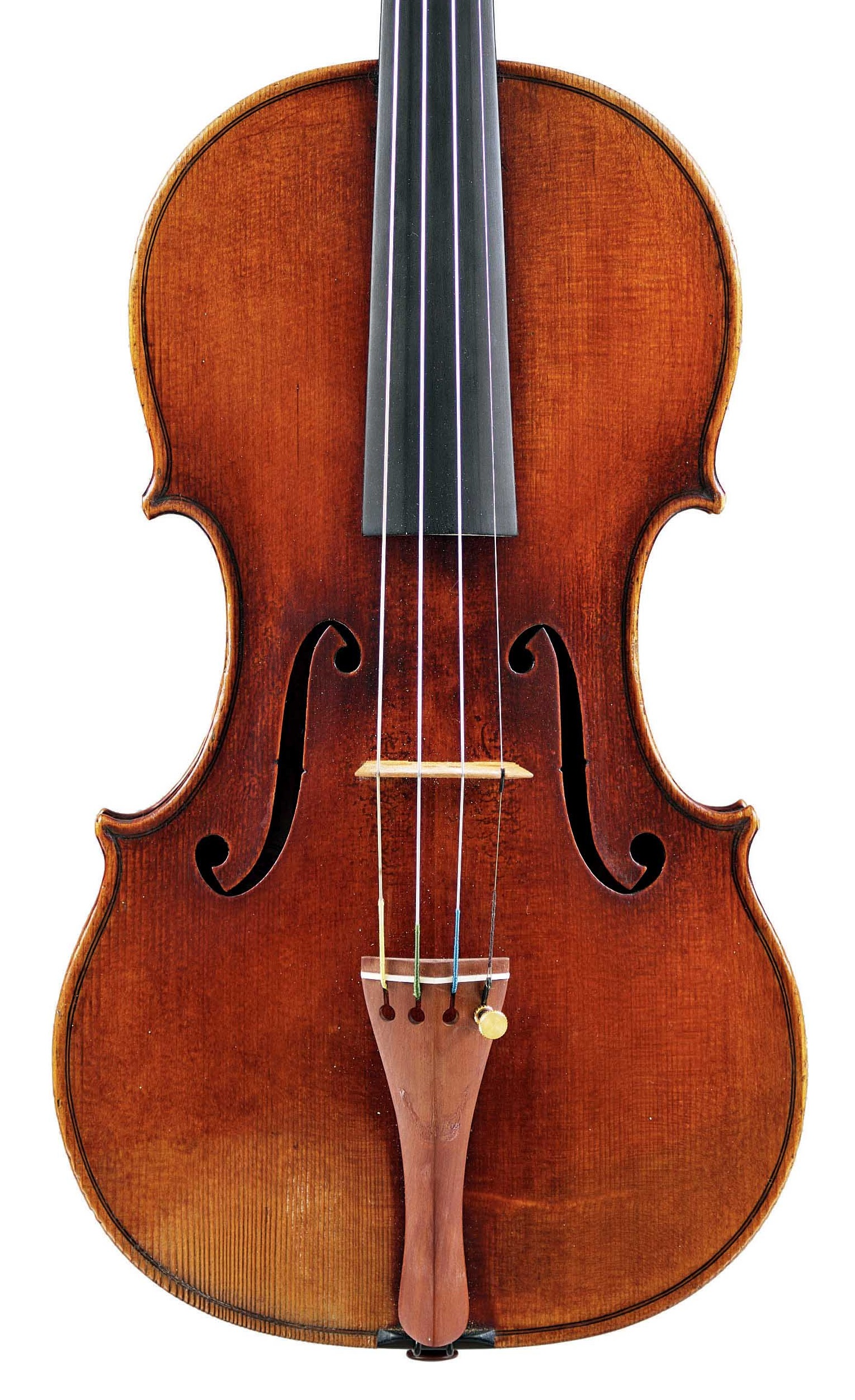 Front of violin by JB Vuillaume, ex-Sin, dated 1862, exhibited by Ingles & Hayday at Sotheby's in 2012