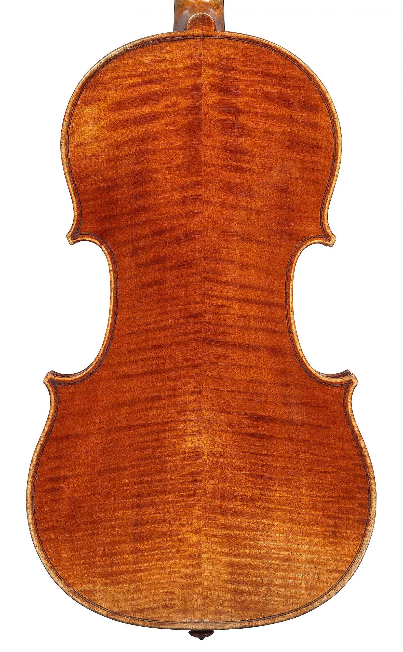 Back of violin by JB Vuillaume, ex-Sin, dated 1863, exhibited by Ingles & Hayday at Sotheby's in 2012