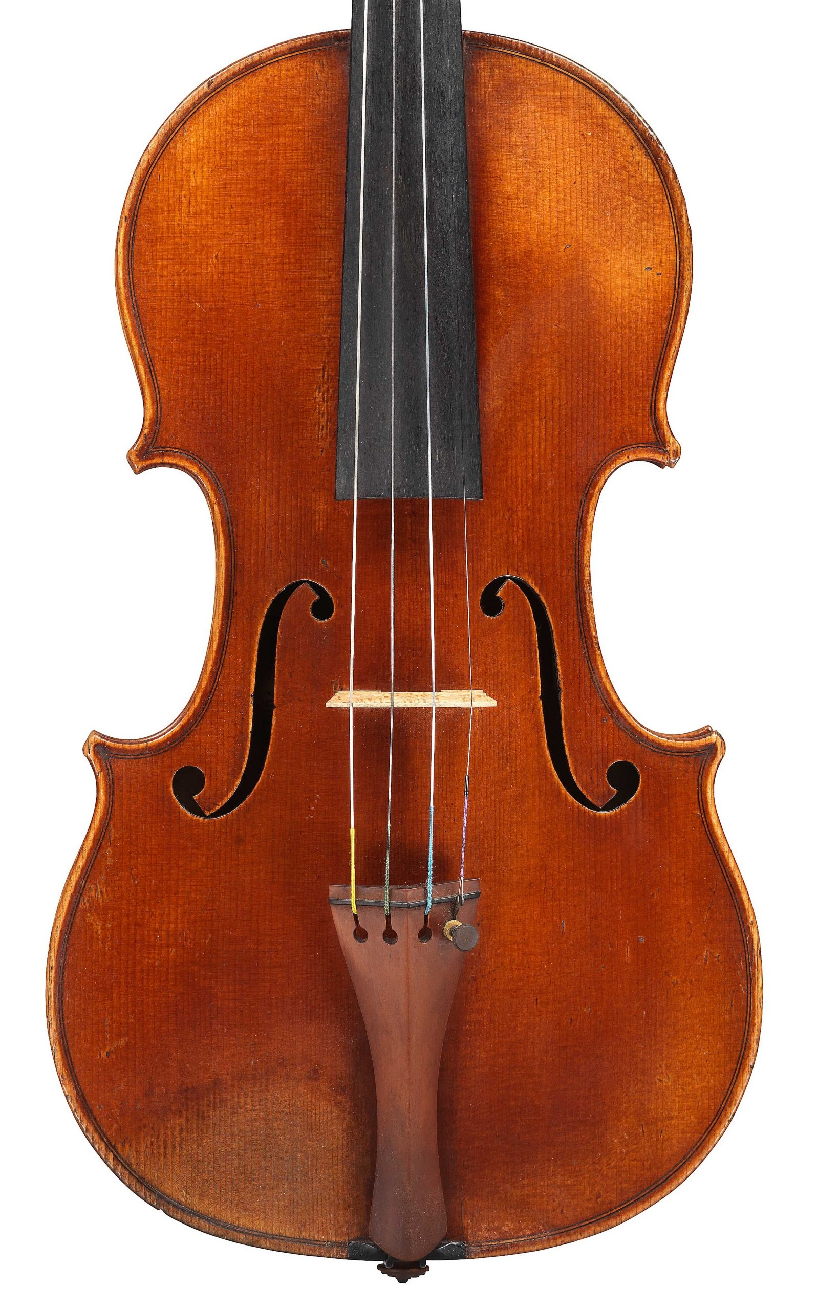 Front of violin by JB Vuillaume, ex-Sin, dated 1863, exhibited by Ingles & Hayday at Sotheby's in 2012