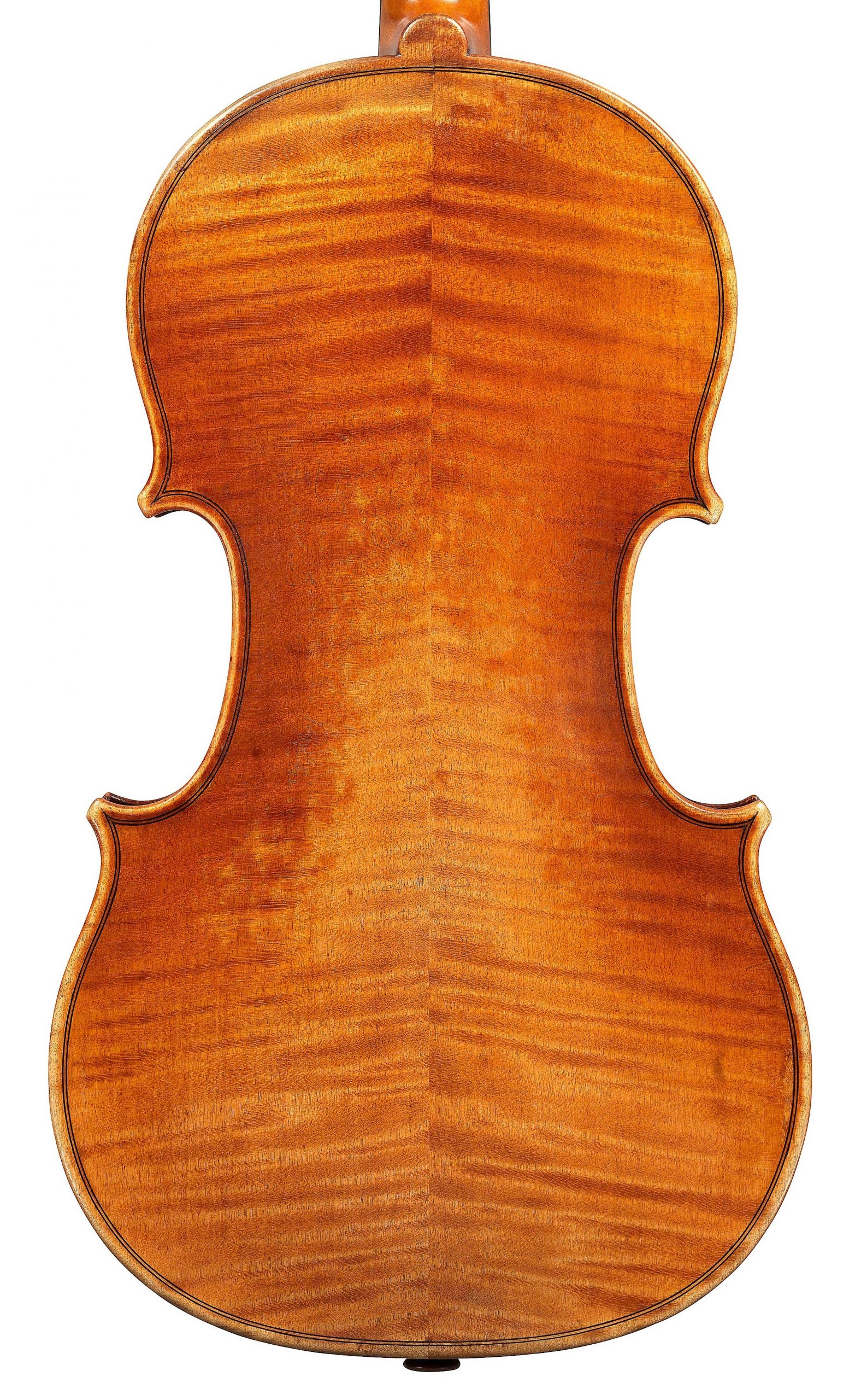 Back of violin by JB Vuillaume, ex-Sin, dated 1865, exhibited by Ingles & Hayday at Sotheby's in 2012 and now played by Hilary Hahn