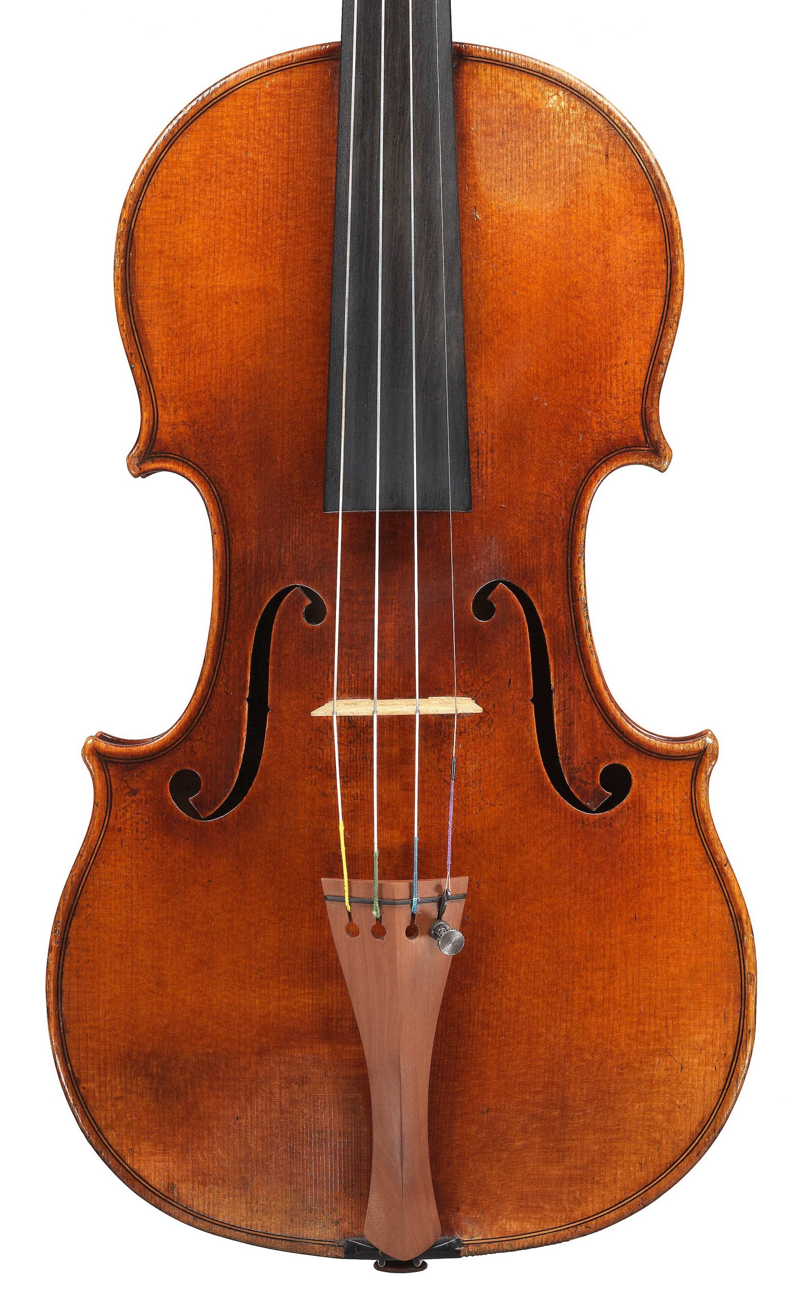 Front of violin by JB Vuillaume, ex-Sin, dated 1865, exhibited by Ingles & Hayday at Sotheby's in 2012 and now played by Hilary Hahn