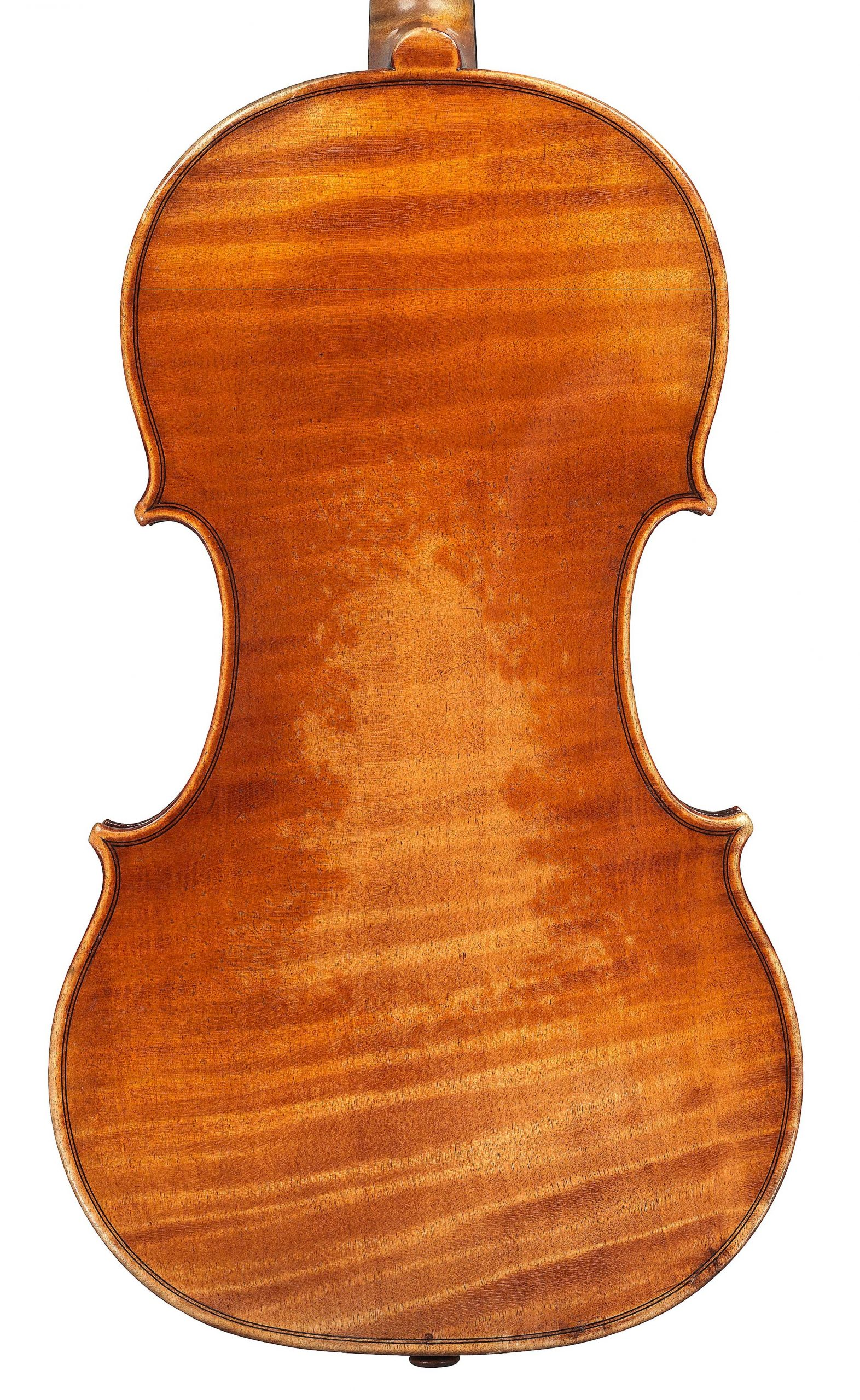 Back of violin by JB Vuillaume, ex-Robertson, dated 1870, exhibited by Ingles & Hayday at Sotheby's in 2012
