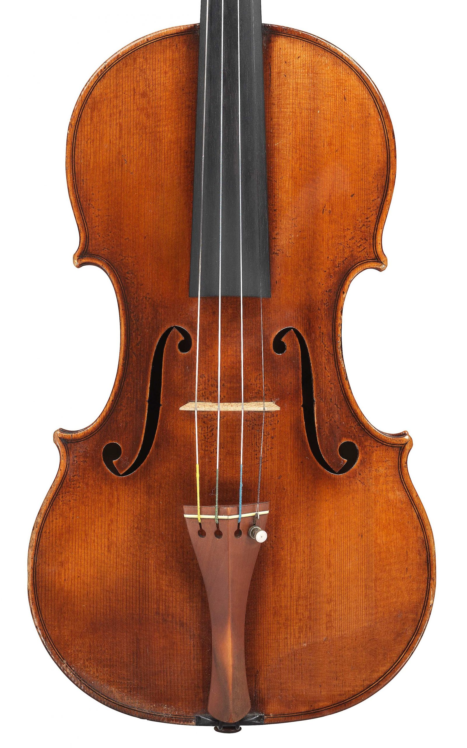 Front of violin by JB Vuillaume, ex-Robertson, dated 1870, exhibited by Ingles & Hayday at Sotheby's in 2012