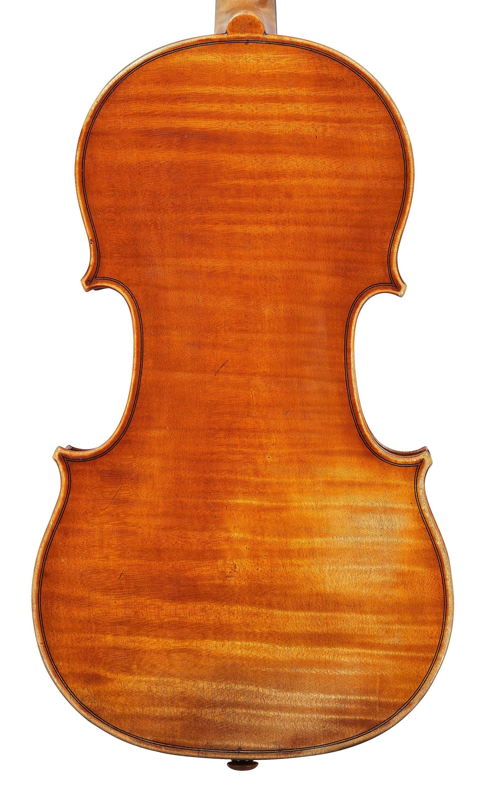 Back of violin by JB Vuillaume, St Paul, dated 1870, exhibited by Ingles & Hayday at Sotheby's in 2012